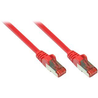 (€0,99*/1m) 10.00m Good Connections Cat. 6a Patchkabel S/FTP PiMF RJ45 Stecker auf RJ45 Stecker Rot halogenfrei