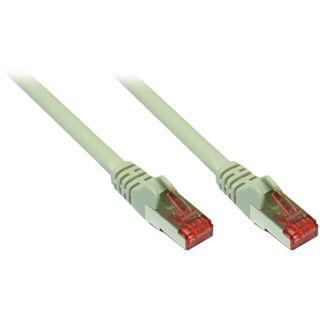 (€0,93*/1m) 30.00m Good Connections Cat. 6a Patchkabel S/FTP PiMF RJ45 Stecker auf RJ45 Stecker Grau halogenfrei