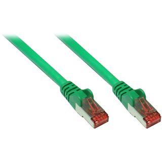 (€0,73*/1m) 30.00m Good Connections Cat. 6a Patchkabel S/FTP PiMF RJ45 Stecker auf RJ45 Stecker Grün halogenfrei