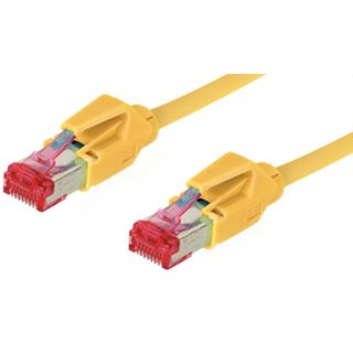 1.50m Good Connections Cat. 6 Patchkabel S/FTP PiMF RJ45 Stecker auf RJ45 Stecker Gelb halogenfrei