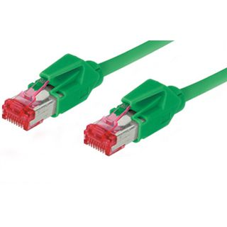 1.00m Good Connections Cat. 6 Patchkabel S/FTP PiMF RJ45 Stecker auf RJ45 Stecker Grün halogenfrei