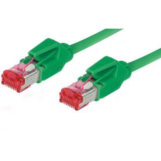 15.00m Good Connections Cat. 6 Patchkabel S/FTP PiMF RJ45 Stecker auf RJ45 Stecker Grün halogenfrei