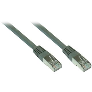 (€9,80*/1m) 0.50m Good Connections Cat. 7 Patchkabel S/FTP PiMF 600MHz RJ45 Stecker auf RJ45 Stecker Grau