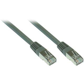 1.00m Good Connections Cat. 7 Patchkabel S/FTP PiMF 600MHz RJ45 Stecker auf RJ45 Stecker Grau