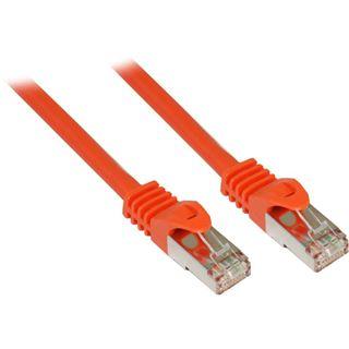 30.00m Good Connections Cat. 7 Patchkabel S/FTP PiMF 600MHz RJ45 Stecker auf RJ45 Stecker Orange