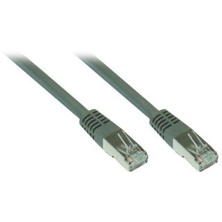 50.00m Good Connections Cat. 7 Patchkabel S/FTP RJ45 Stecker auf RJ45 Stecker Grau halogenfrei