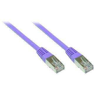 (€0,98*/1m) 5.00m Good Connections Cat. 5e Patchkabel S/FTP RJ45 Stecker auf RJ45 Stecker Violett