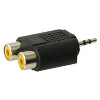 Adapter Audioadapter Cinch Stereo 2x Cinch Buchse auf 2,5mm Stecker