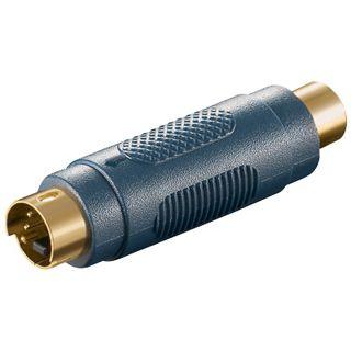 Good Connections Adapter S-Video Stecker auf Cinch Buchse Schwarz
