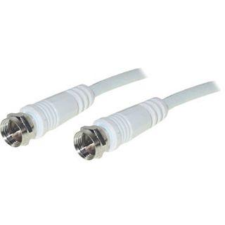 7.50m Good Connections SAT Antennenkabel F-Stecker auf F-Stecker Weiß doppelt geschirmt