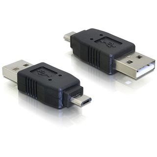 Good Connections Adapter Gender-Changer USB mikroB Stecker auf USB A Stecker