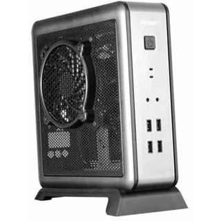 Antec ISK-100 ITX Tower 90 Watt schwarz/silber