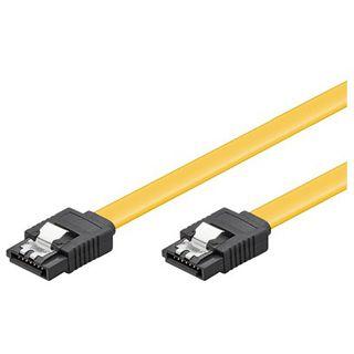 (€9,80*/1m) 0.50m Good Connections SATA 6Gb/s Anschlusskabel SATA Stecker auf SATA Stecker Gelb mit Arretierung