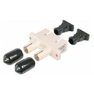 Good Connections LWL Duplex SC Stecker auf ST Stecker Weiß