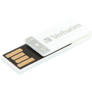 2 GB Verbatim Clip-it USB Drive weiss USB 2.0