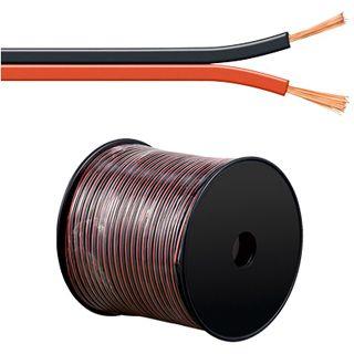 100.00m Good Connections Audio Lautsprecherkabel Standard ohne Stecker auf Rot/Schwarz auf Spule/2x 1,5mm²