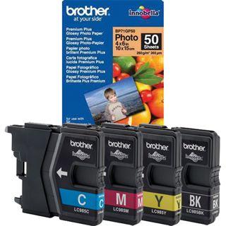 Brother Tinte LC985VB50PDR schwarz/cyan/magenta/gelb