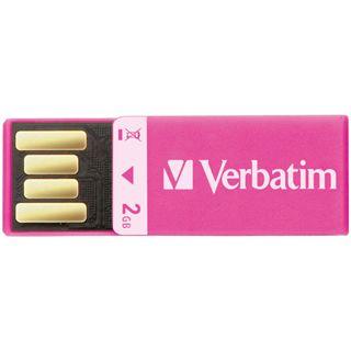 2 GB Verbatim Clip-it USB Drive pink USB 2.0