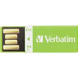 2 GB Verbatim Clip-it USB Drive gruen USB 2.0