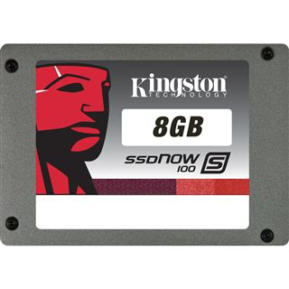 "8GB Kingston S100 Series 2.5"" (6.4cm) SATA 3Gb/s MLC asynchron"