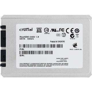 "64GB Crucial C300 Series 1.8"" (4.6cm) SATA 6Gb/s MLC asynchron (CTFDDAA064MAG-1G1)"
