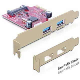 Delock 89277 2 Port PCIe 2.0 x1 retail