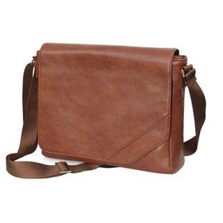 """CoolBananas OldSchool Leder-Tasche für MBPro 38cm(15"""")Braun"""