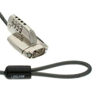 InLine Sicherheitskabelschloss, , für D-Sub, 4,4mm x 2m