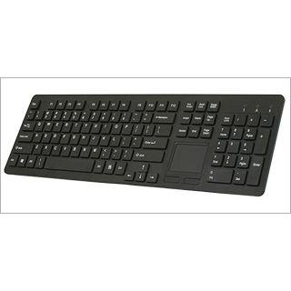 Perixx Tastatur, PERIBOARD-713 DE B, USB, Wireless Design Touchpad Keyboard