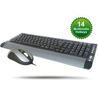 Wintech Tastatur + Maus, KBM-25, Multimedia, schwarz, USB