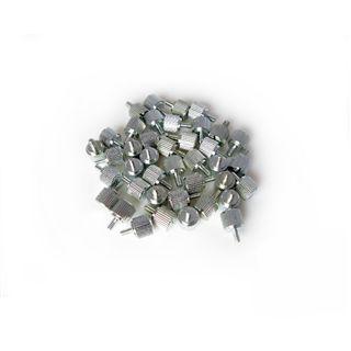 Dimas Tech 20x M3 + 20x 6-32er silber Rändelschrauben für