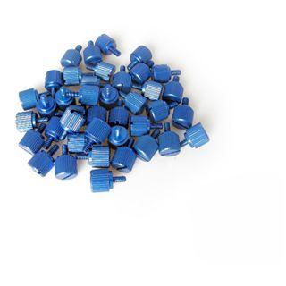 Dimas Tech 20x M3 + 20x 6-32er blau Rändelschrauben für