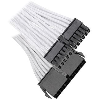 BitFenix 24-Pin ATX Verlängerung 30cm - sleeved white/black