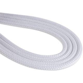 KAB BitFenix Molex Verlängerung 45cm - sleeved white/black