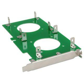 """InLine 4x 3,5"""" Einbauplatine Slotblech für PCI (39950I)"""