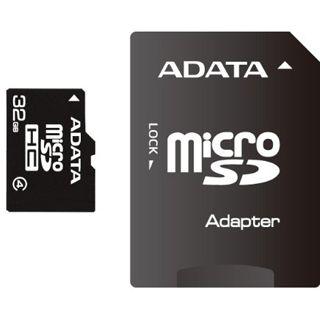 32 GB ADATA Turbo microSDHC Class 4 Retail inkl. Adapter