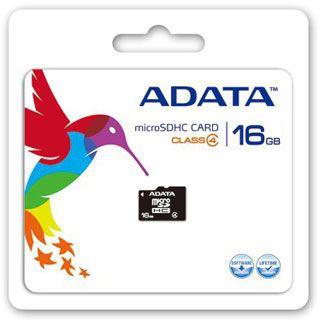 16 GB ADATA Turbo microSDHC Class 4 Retail inkl. Adapter