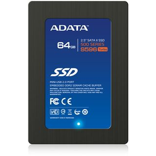 "64GB ADATA S596 2.5"" (6.4cm) SATA 3Gb/s MLC asynchron (AS596TB-64GM-NP)"