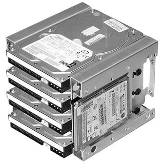 """Lian Li silberner Festplattenkäfig für 4x 3.5"""" und 2x 2.5"""" (EX-36A3)"""