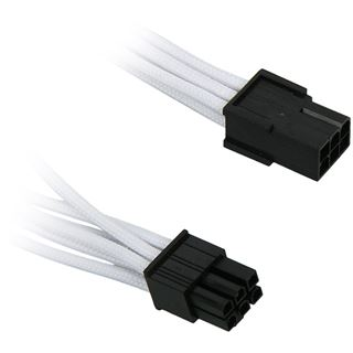 KAB BitFenix 6-Pin PCIe Verlängerung 45cm - sleeved white/black