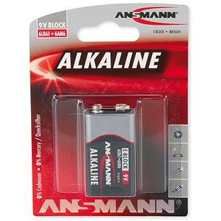 ANSMANN Red-Line 6LR61 Alkaline E Block Batterie 9.0 V 1er Pack