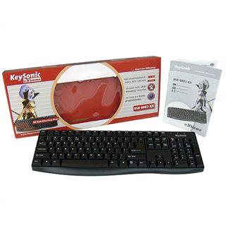 KeySonic KSK-8003 USB Deutsch schwarz (kabelgebunden)