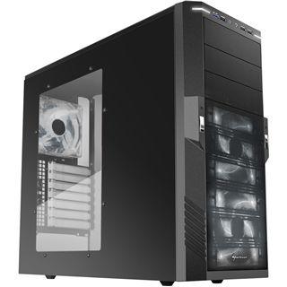 Sharkoon T9 Value White Edition mit Sichtfenster Midi Tower ohne