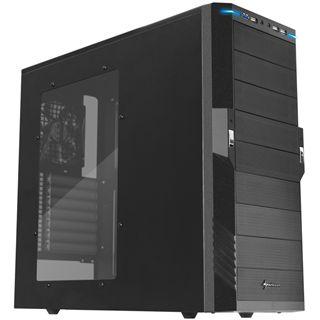 Sharkoon T9 Value Black Edition mit Sichtfenster Midi Tower ohne