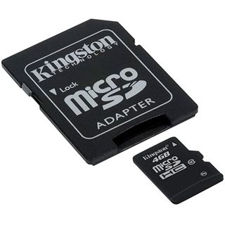 4 GB Kingston Standard microSDHC Class 10 Retail inkl. Adapter