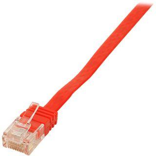 10.00m Good Connections Cat. 6 Patchkabel flach UTP RJ45 Stecker auf RJ45 Stecker Rot