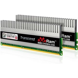 4GB Transcend aXeRAM DDR3-2400 DIMM CL10 Dual Kit