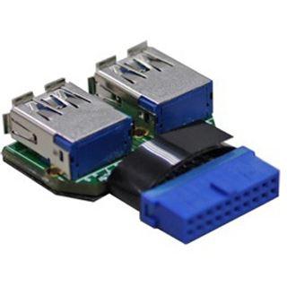 Lian Li 2x USB 3.0 Adapter für 20-Pin USB 3.0 Header (UC-01)