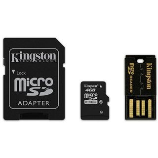 4 GB Kingston Standard microSDHC Class 10 Retail inkl. USB-Adapter
