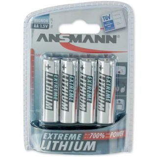 ANSMANN Extreme Lithium AA / Mignon Lithium 1.5 V 4er Pack